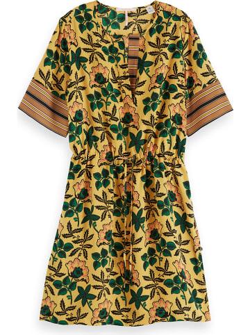 Scotch & Soda Sukienka w kolorze żółtym ze wzorem