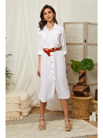 Lin Passion Linnen jurk wit