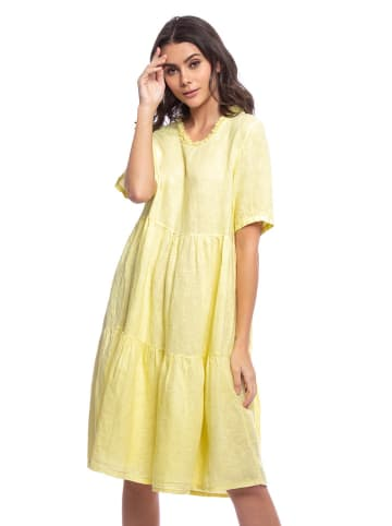 Lin Passion Linnen jurk geel
