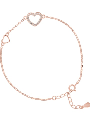 """Wishlist Rosévergulde, zilveren armband """"Coeur"""" met sierelementen"""
