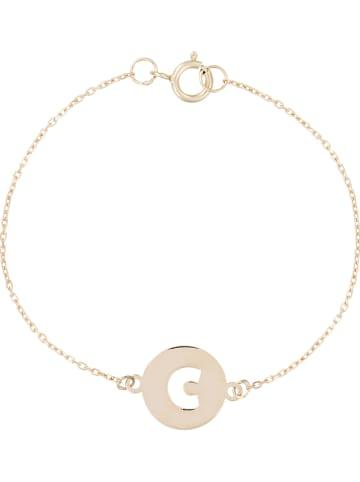 """OR ÉCLAT Gouden armband """"Lettre c dorée"""" met sierelement"""