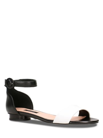 Gino Rossi Leren sandalen zwart/wit