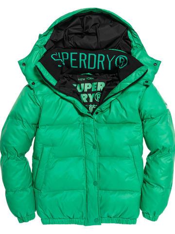 """Superdry Kurtka zimowa """"Astrid"""" w kolorze zielonym"""