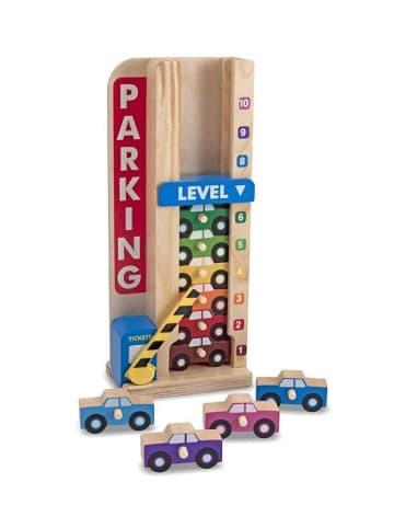"""Melissa & Doug Drewniana zabawka """"Parking"""" do nauki liczenia - 11 el."""
