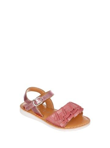 Chetto Skórzane sandały w kolorze różowym