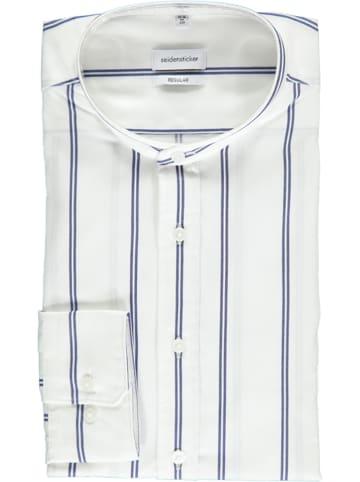 Seidensticker Hemd - Regular fit - in Weiß/ Blau