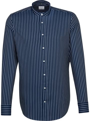 Seidensticker Koszula - Slim fit - w kolorze granatowo-białym