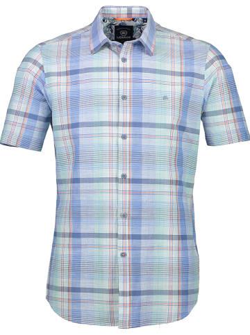 Lerros Hemd - Regular fit - in Blau/ Grün/ Weiß