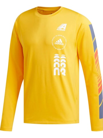 "Adidas Performance Trainingsshirt ""Moto"" geel"