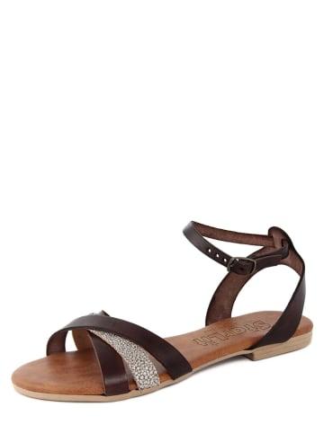 Starlit Leder-Sandalen in Braun/ Bronze