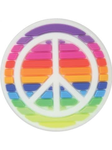 """Crocs Przypinka """"Rainbow Peace Sign"""" ze wzorem na buty"""