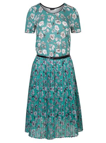"Vive Maria Jurk ""Green Bouquet"" turquoise/lichtgrijs"