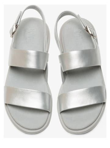 """Camper Leren sandalen """"Edy"""" zilverkleurig"""