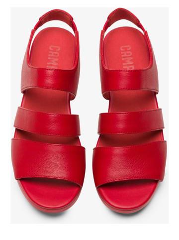 "Camper Leren sandalen ""Balloon"" rood"
