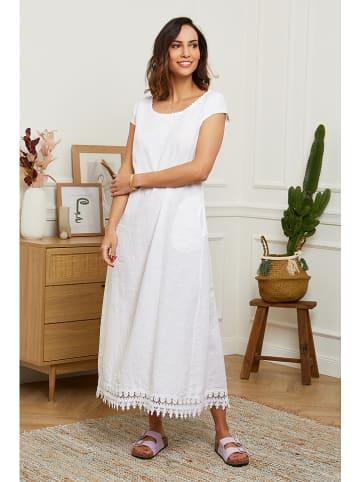 Naturelle en lin Linnen jurk wit