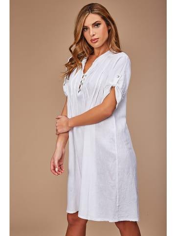100% LIN Linnen jurk wit