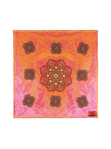 Versace 19.69 Chusta w kolorze różowo-koralowym ze wzorem - (D)30 x (S)30 cm