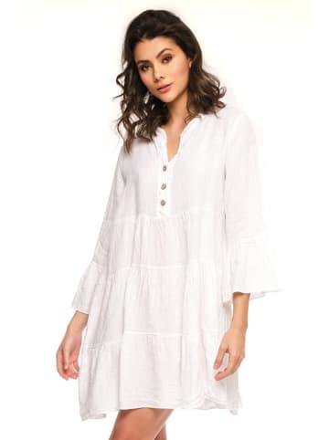 """Fleur de Lin Lniana sukienka """"Abby"""" w kolorze białym"""