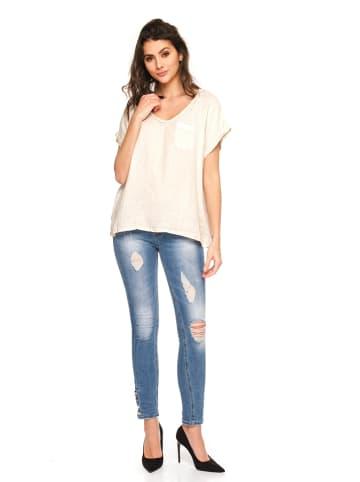 """Fleur de Lin Leinen-Shirt """"Bello"""" in Beige"""