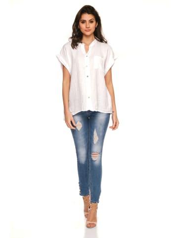 "Fleur de Lin Linnen shirt ""Biel"" wit"