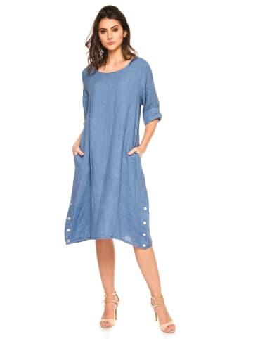 """Fleur de Lin Lniana sukienka """"Hulis"""" w kolorze błękitnym"""