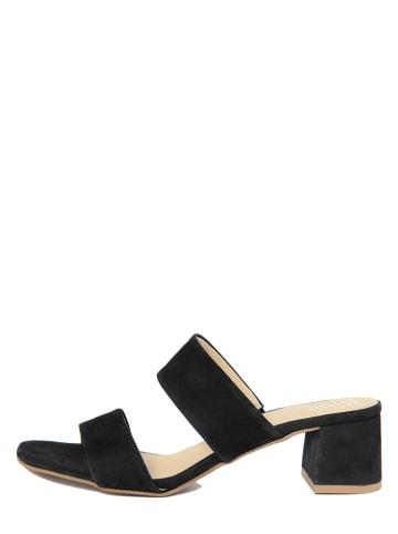 BlueTag Skórzane sandały w kolorze czarnym