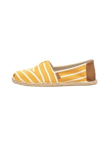 """TOMS Espadryle """"Classic Riviera Stripe"""" w kolorze żółtym"""
