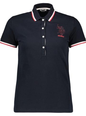 "U.S. Polo Poloshirt ""Scarlett"" donkerblauw"