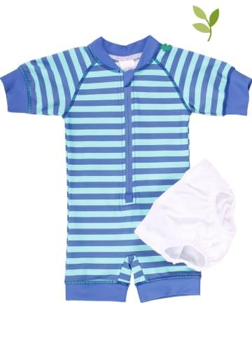 Fred´s World by GREEN COTTON 2-delige set: badpak en zwembroek blauw/lichtblauw