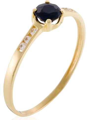 """OR ÉCLAT Gouden ring """"Carré mystérieux"""" met edelstenen"""
