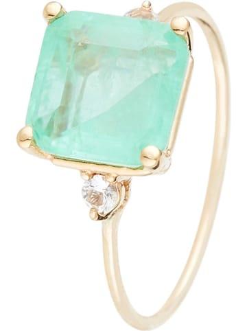 """OR ÉCLAT Gouden ring """"Espoir"""" met quarz en topaas"""