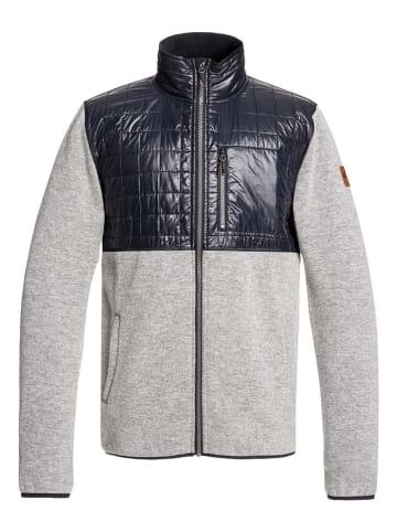 """Quiksilver Fleece vest """"In The Wild"""" grijs/donkerblauw"""