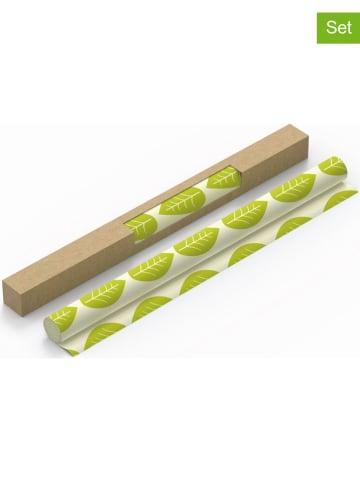 "NUTS 2er-Set: Pflanzenwachsrolle ""Vegan"" in Grün - (L)90 x (B)30,5 cm"