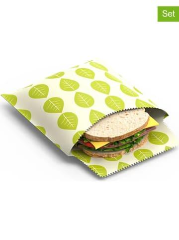 "NUTS 2er-Set: Sandwichbeutel ""Vegan"" in Grün"