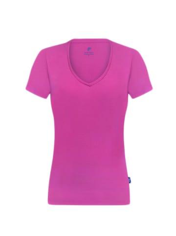 Denim Culture T-shirt w kolorze różowym
