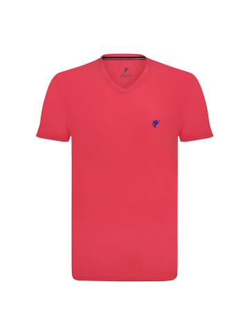 Denim Culture T-shirt w kolorze koralowym