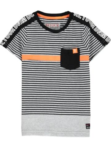 """Retour Shirt """"Apo"""" in Schwarz/ Grau/ Orange"""