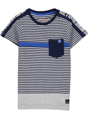 """Retour Shirt """"Apo"""" in Dunkelblau/ Grau"""