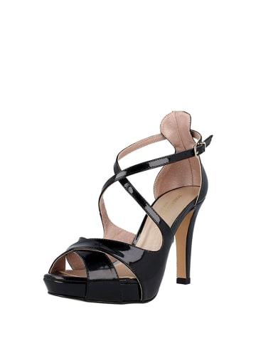 Roberto Botella Skórzane sandały w kolorze czarnym