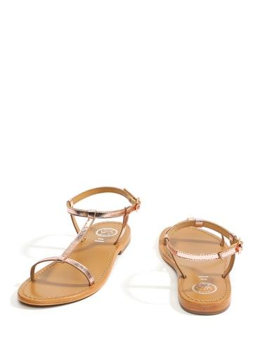 """Whitesun Leren sandalen """"Lagorn"""" roségoudkleurig"""
