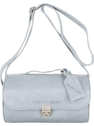 """Cowboysbag Skórzana torebka """"Gray"""" w kolorze błękitnym - 25 x 13 x 13 cm"""