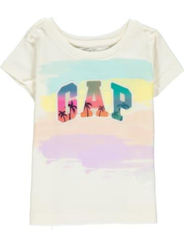 GAP Koszulka w kolorze białym ze wzorem
