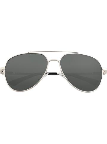 """Breed Męskie okulary przeciwsłoneczne """"Lyra"""" w kolorze srebrno-czarnym"""