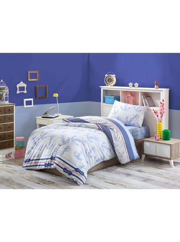 "Colourful Cotton Beddengoedset ""Capa"" lichtblauw"