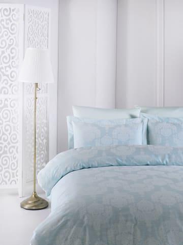 """Colourful Cotton Satijnen beddengoedset """"Lina"""" lichtblauw"""