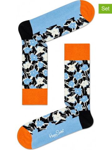 """Happy Socks Skarpety (2 pary) """"Andy Warhol Flower"""" w kolorze błękitnym ze wzorem"""