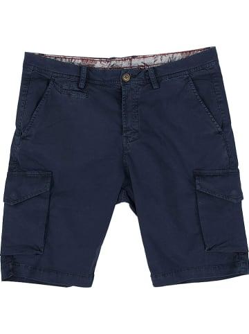 Polo Club Cargoshort - custom fit - donkerblauw