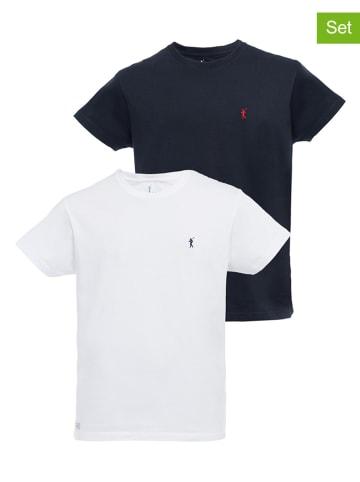 Polo Club Koszulki (2 szt.) w kolorze białym i granatowym