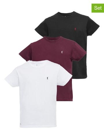 Polo Club Koszulki (3 szt.) w kolorze czerwonym, białym i czarnym
