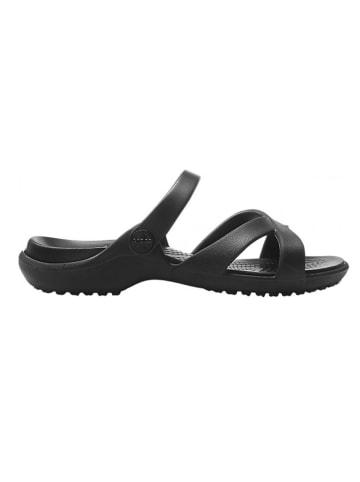 """Crocs Slippers """"Meleen CrossBand"""" zwart"""